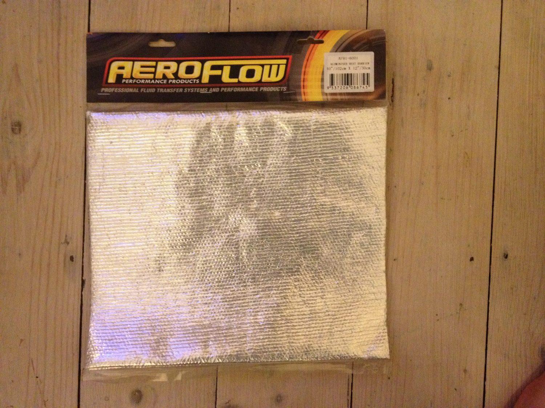 Flexible Aluminium Heat Shield Wrap, Heat Reflective, 102cm x 30cm